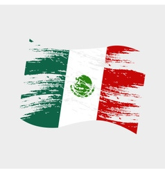 Mexico color national flag grunge style eps10 vector