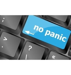 No panic key on computer keyboard - social concept vector