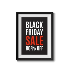 Picture frame isolated on white background Black vector image