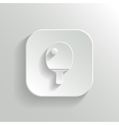 Ping pong icon - white app button vector image
