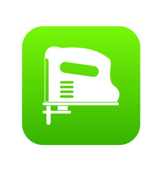 Pneumatic gun icon digital green vector