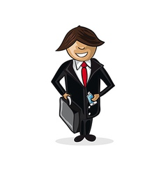 Profession businessman cartoon figure vector image