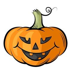 Pumpkin contour color vector