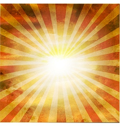 Retro Square Shaped Sunburst vector image