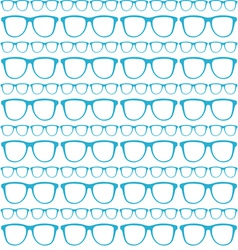 seamless blue pattern sunglasses vector image