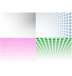 set abstract halftone background vector image