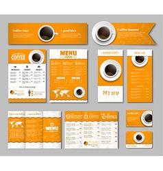 Set coffee corporate identity vector