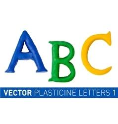 Set of plasticine letters of english alphabet vector