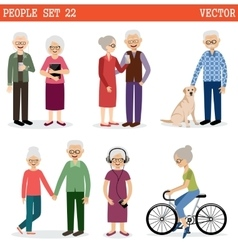 Set of the old people vector image