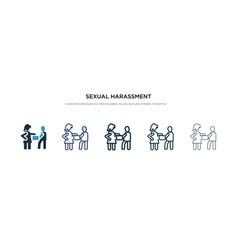 Sexual harassment icon in different style two vector