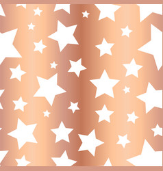 shiny copper foil stars seamless pattern vector image