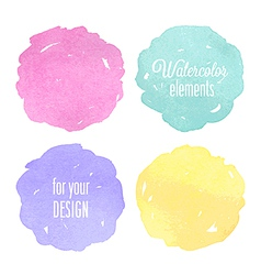 Watercolor circles vector