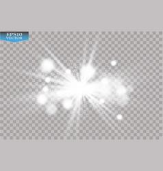 White glitter wave white star dust trail vector