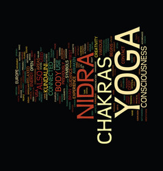 Yoga nidra and consciousness chakras in yoga vector