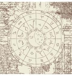 Zodiac with the sun vector