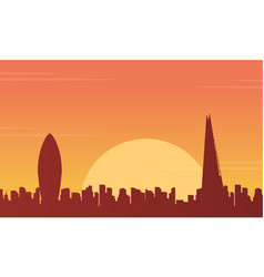 at sunset london city building landscape vector image vector image