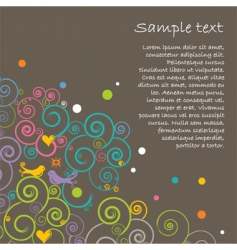 floral layout vector image vector image