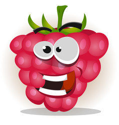 funny happy raspberry character vector image vector image