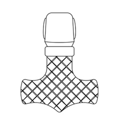Viking god hammer icon in outline style isolated vector image vector image