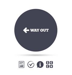 Way out left sign icon arrow symbol vector