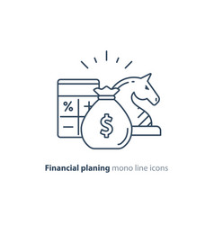 audit services financial consulting money vector image