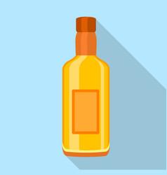 glass cognac vodka bottle icon flat style vector image