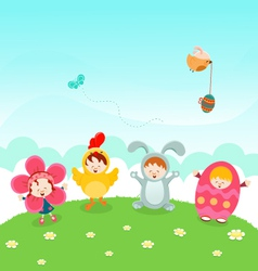 Kids Easter Party vector image vector image
