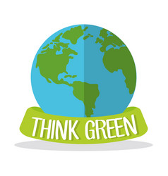 think green globe world vector image