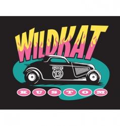 wildcat custom vector image