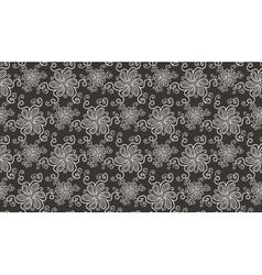 Elegant white flower seamless pattern on brown vector image