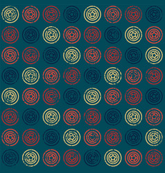 seamless pattern with stars in circles vector image vector image