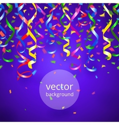 streamers and confetti background vector image