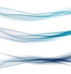 Three abstract modern swoosh border line waves vector image vector image