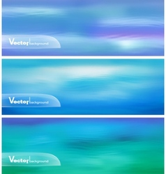 Abstract Blue Water Banner vector image