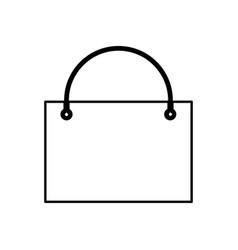 shopping bag black color icon vector image