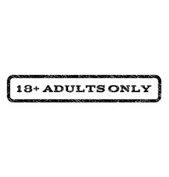 18 plus adults only watermark stamp vector image