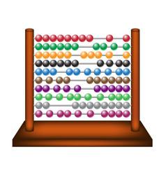 Abacus in wooden design vector