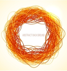 Absract orange circle background with lines vector