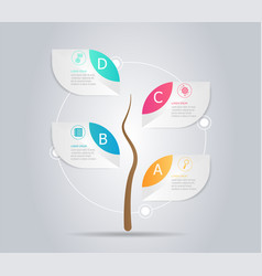 Abstract tree infographic element background vector