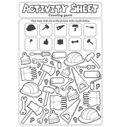 Activity sheet counting game 9 vector