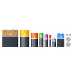 Alkaline battery accumulators cylinder vector