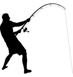 Angler silhouette vector
