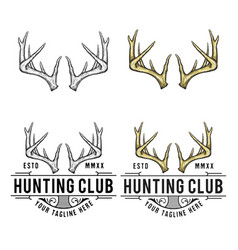 Antler logo design vector
