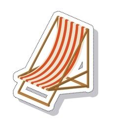 Beach chair isolated icon vector