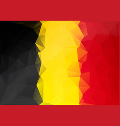 Belgium flag low poly style yellow red black vector
