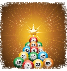 Bingo ball Christmas vector