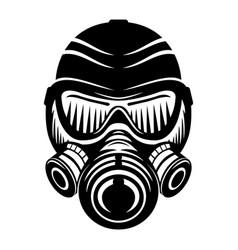 Black gas mask sign vector