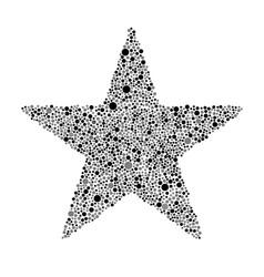 Black grey bubbles star random dots vector