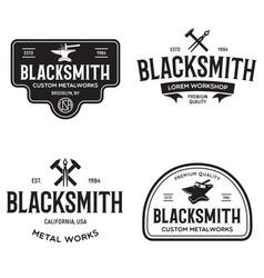blacksmith labels set design elements for vector image