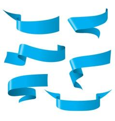 Blue ribbon patterns vector